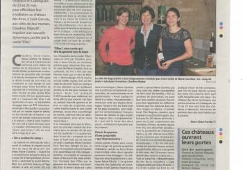 Article dans le Haute- Gironde